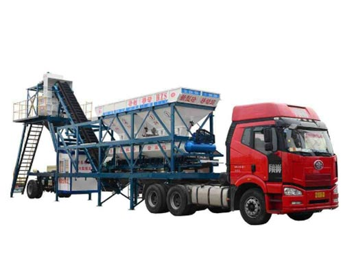 portable concrete mixing plant