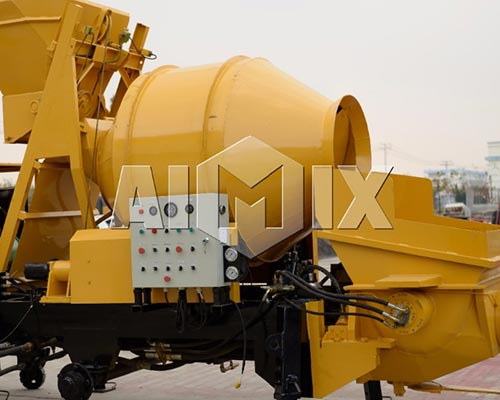 concrete mixer and pump