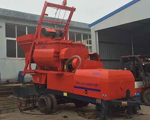 concrete pump and mixer