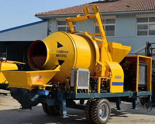 diesel concrete pump with mxier
