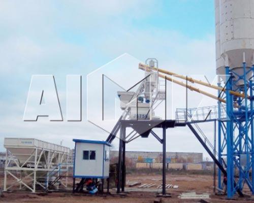 Mini Concrete Batch Plant Cube : Mini concrete batch plant for sale aimix machinery supplier