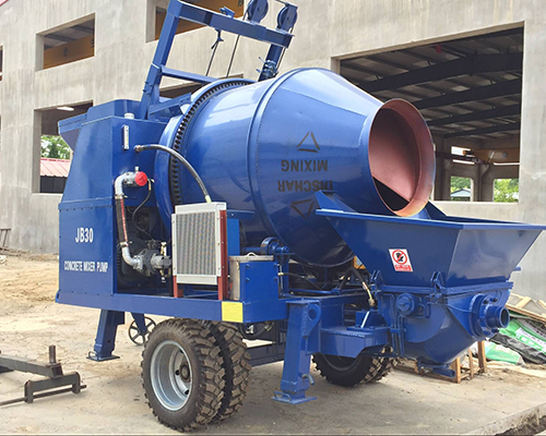 Aimix electric concrete mixer pump was exported to Congo