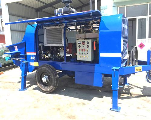 mobile type concrete pumps