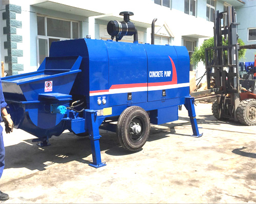 best concrete pump machine