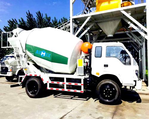 3 m3/h concrete mixer truck