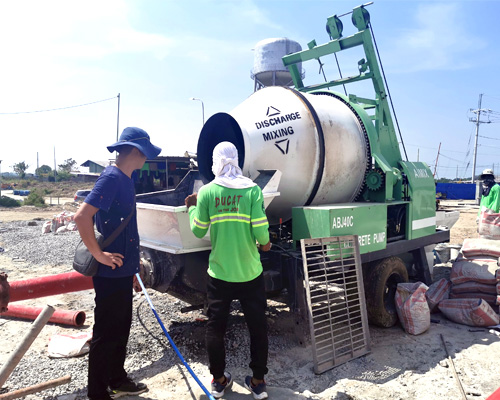concrete mixing pump
