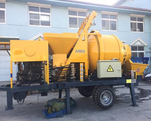 best concrete pump with mixer