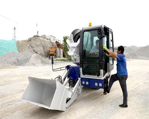aimix self loading mobile concrete mixer machine