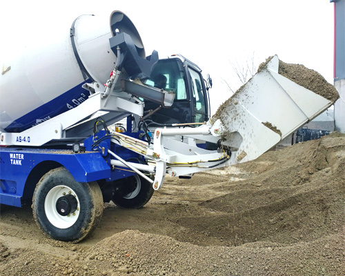 the bucket of self loading mixer