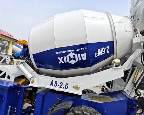 self loading concrete mixer mixing tank