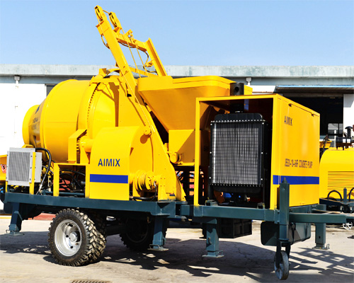 low cost concrete mixer with pump