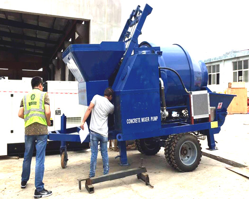 concrete mixer with pump for hot sale in Philippines
