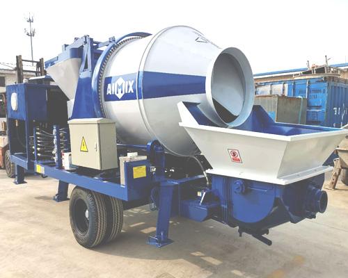 cheap concrete mixer with pumps
