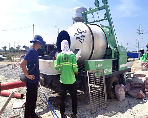 high capacity concrete mixer pump