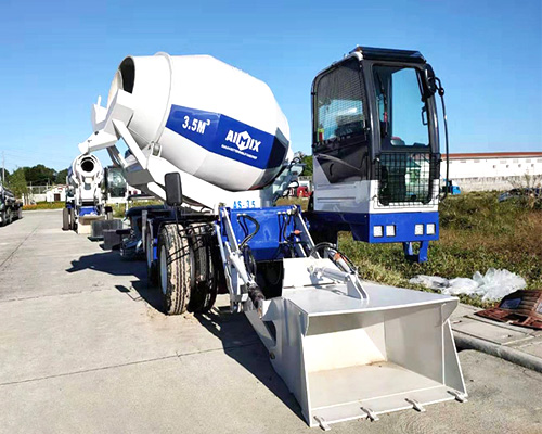 choose aimix self loading concrete mixer truck