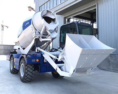 self loading concrete mixer truck equipment