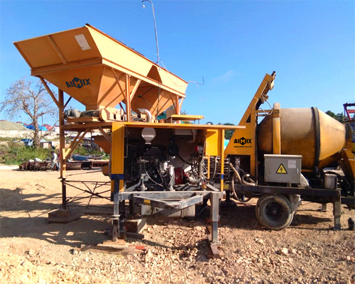 concrete mixer and concrete pump
