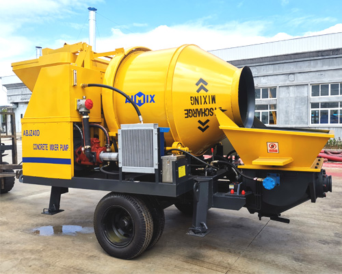 Aimix concrete mixer and pump machine